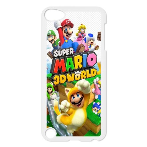 B1I85 super mario d world C8B8XJ cover iPod Touch 5 Case Cover White AM3JZH7WU