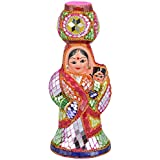 RAJKRUTI Handicraft Rajasthani Art Decorative Antique Women With Child And Pot Show Piece Idol (8 Cm X 7.5 Cm...