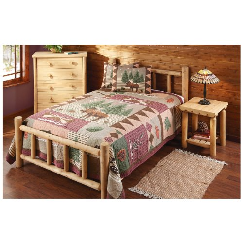 CASTLECREEK Twin Cedar Log Bed Log Cabin Bedroom Furniture 2017
