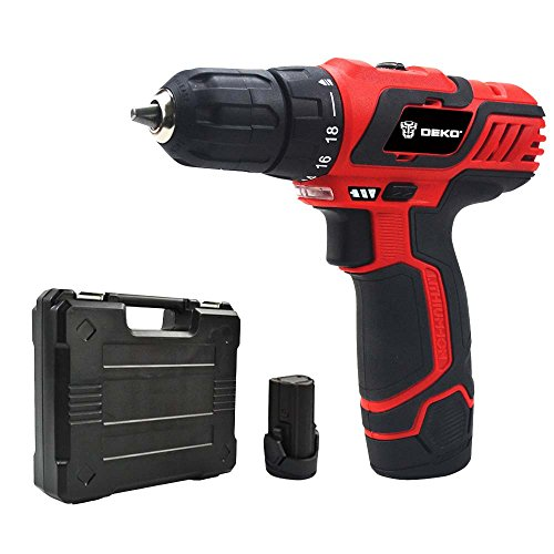 Limite Sales DEKO 10.8V/12V Household Lithium/ Li-ion Cordless Drill/Driver Cordless Screwdriver with Two Battery Packs and BMC Packing (Cordless Drill Sale compare prices)