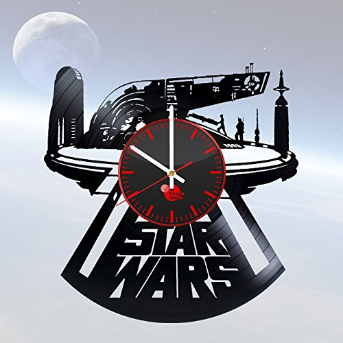 Star-Wars-Vinyl-Record-Wall-Clock-Get-unique-kitchen-wall-decor-Gift-ideas-for-menwomenkids-Unique-movie-art-design-Leave-us-a-feedback-and-win-your-custom-clock