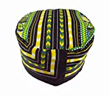 African-Dashiki-Hat-Kente-Pattern-Kufi-Kofi-Hat-Cap