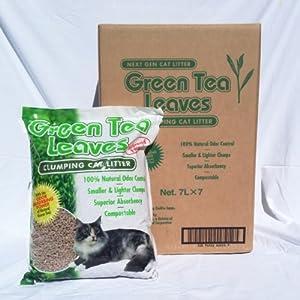 Green Tea Leaves Cat Litter - 7 liters