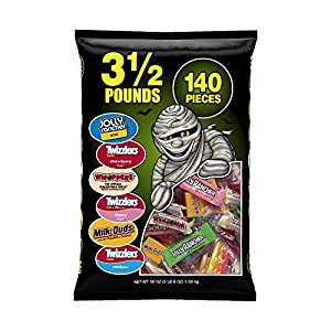 Hershey's Snack Size Assortment Bag (Jolly Rancher, Twizzlers, Whoppers, and Milk Duds), 140 Count