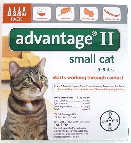 Advantage II for Cats 5-9 Lbs. ~~ 4 Months (Multi Advantage For Cats compare prices)