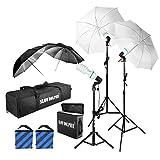 Slow Dolphin 1575W 5500K Photography Photo Portrait Studio Day Light Umbrella Lighting Kit