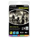 Xtreme Audio Earbuds With Microphone - Retail Packaging - Black