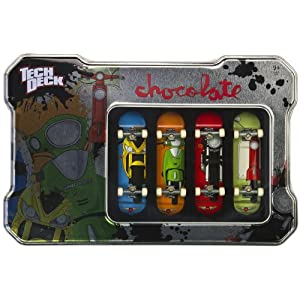 Chocolate: Tech Deck Tin Box & 4-Finger Skateboards Set