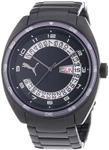 Puma Time Herren-Armbanduhr XL Course Metal- L Black Analog Quarz Edelstahl PU102521006