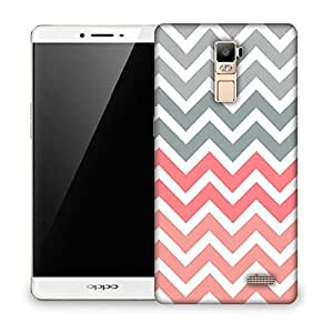 Snoogg Frequency Multicolour Soft Designer Protective Back Case Cover For OPPO F1