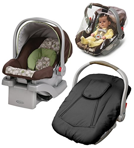 Graco SnugRider Click Connect 30 Infant Car Seat with Deluxe Weather Cover & Weather Shield, Zuba (Graco Snug Ride Car Seat Cover compare prices)