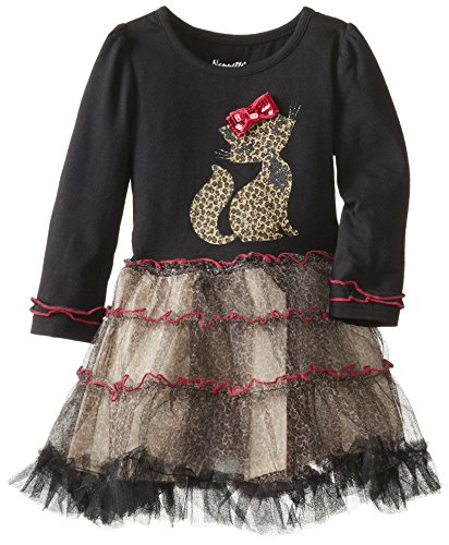 Nannette Little Girls' Cat Animal Tutu Dress