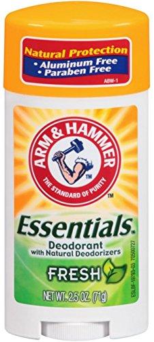 Arm & Hammer Essentials Natural Deodorant, Fresh, 2.5 Ounce (Aluminum Free Deodorant For Men compare prices)