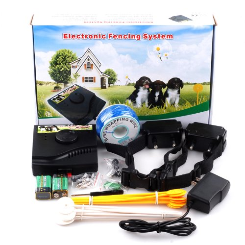 Cisno Underground Waterproof Rechargeable Electronic Fence Dog Shock Collar System Electronic Pet Dog Fence With Collar,Transmitter And System