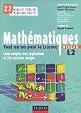 echange, troc  - Mathématiques Tout-en-un pour la Licence, Niveau L2 : Cours complets avec applications et 760 exercices corrigés