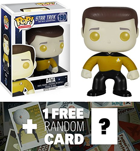 Data: Funko POP! x Star Trek The Next Generation Vinyl Figure + 1 FREE Official Star Trek Trading Card Bundle [49034]