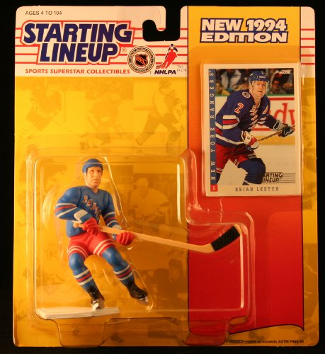 BRIAN LEETCH / NEW YORK RANGERS 1994 NHL Starting Lineup Action Figure & Exclusive NHL Collector Trading Card