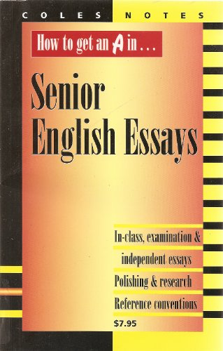 coles notes english essay Crabbe by william bell, free study guides and book notes including comprehensive chapter analysis, complete summary analysis, author biography information, character profiles, theme analysis, metaphor analysis, and top ten quotes on classic literature.