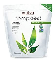 Nutiva Organic Shelled Hempseed, 3 Pound Bag