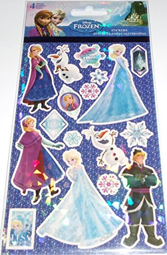Disney Frozen 4 sheets of Stickers - Anna, Elsa, Olaf, Sven, etcc - 1