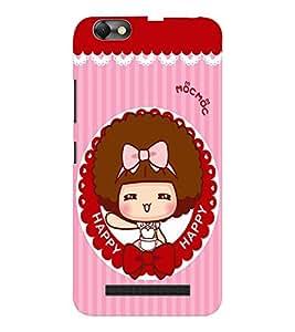 EPICCASE Happy girl Mobile Back Case Cover For Lenovo A2020 (Designer Case)