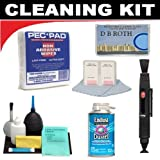 Lenspen Lens Cleaning System + PEC-PAD Non Abrasive Wipes (100 Wipes) + Hurricane Blower + Deluxe ClearMax Cleaning Kit For The The Panasonic Lumix DMC-LZ10, DMC-LZ8, DMC-LZ7, DMC-LZ6, DMC-LZ5, DMC-LZ3, DMC-LS60, DMC-LS70, DMC-LS75, DMC-LS80 Digital Came