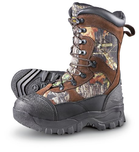 Men's Guide Gear 2400 gram Thinsulate& Ultra Insulation Monolithic Waterproof Boots Mossy Oak, MOSSY OAK, 9.5M(D)