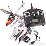 New & Improved WL V911 4 CH Single Rotor Helicopter Version 2 Red / White