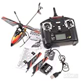 This is the newest version of the WL V911 helicopter, with new and improved battery compartment. The batteries are now snapped into place into the helicopter rather than hanging while flying in the first version. WL V911 is one of the best 4 Channel beginner/intermediate hobby helicopter out in the market, with full 4 Channel function. 3 Channel coaxial helicopters are great to begin, but if you are looking to step into the next level and enter a whole new level of fun, the WL V911 is great for you! The first of its kind (toy-hobby) that is able to fly well outdoor with light to mild wind. The single propeller design allows for great speed, flexibility and agility. It flies just like a hummingbird! Come and see why the whole RC community is raving about this helicopter at a fraction of the cost of more expensive hobby helicopter, but with performance that meets and exceeds expectations. Comes equipped with everything needed to fly including: 2.4 Ghz transmitter Helicopter 2 batteries (new and improved version) instruction manual .Test fly the new and improved WL V911 today! Please Note: the original battery will not fit into this new version. Please only buy the new version battery!