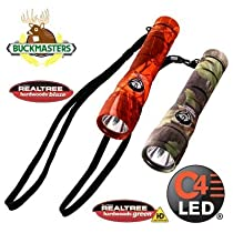Streamlight 51058 Buckmasters PackMate Flashlight with Lithium Batteries and Green LEDs, Blaze Camo