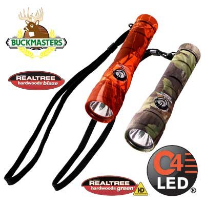 Streamlight 51057 Buckmasters Packmate Flashlight With Lithium Batteries And Green Leds, Camo