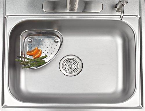 Corner Sink Strainer : Better Houseware 726 Corner Sink Strainer, Stainless Home Garden ...