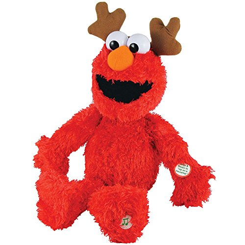 Sesame Street Singing And Swaying Christmas Holiday Reindeer Elmo Plush front-451424