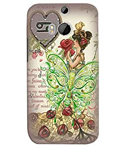 Fuson 3D Printed Girly Designer back case cover for HTC One M8 - D4615