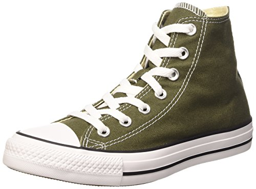 Converse All Star Hi Canvas Seasonal, Sneaker, Unisex - adulto, Verde (Herbal), 36.5
