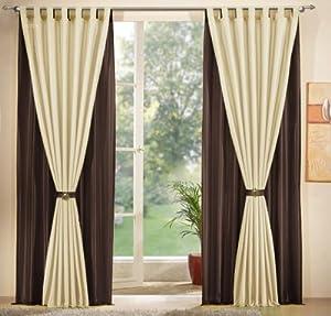 gardinen set 2 x deko taft vorhang schlaufen 245x140. Black Bedroom Furniture Sets. Home Design Ideas