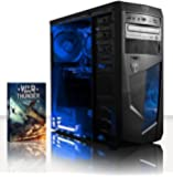 VIBOX Precision 6 - 4.0GHz Gamer, Gaming PC Ordinateur de bureau Unité Centrale (Rapide AMD FX 4300 Quad Core CPU, 2 Go Nvidia Geforce GT 730 HDMI/DVI-D/VGA GPU, 1 To HDD, 8 Go 1600MHz RAM, 85+ 500W PSU, DVD-RW)
