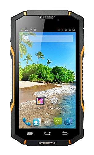 """IceFox(R) Bingo, Dual Sim,NFC Android Outdoor Smartphone, Ohne Vertrag, Quad Core IP68, Wasserdichtes, Stoßfestes, Staubdichtes Handy,5,0 Zoll Display, 1GB RAM, 8GB ROM (5,27GB für Benutzer), 8MP Kamera, WiFi, GPS, FM, WCDMA 3G, Bluetooth 4,0, 3600mAh Akku,Versand aus Deutschland"""""""