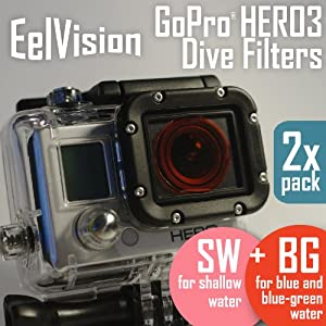 GoPro HERO3 Dive Filters (2 pack: BG+SW) Red / Diving / Underwater Color Correction