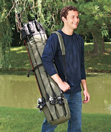 Canvas Fishing Rod & Reel Organizer Bag