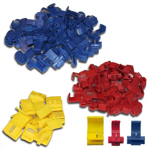 100x Snap-Lock Connectors 50x Blue / 40x Red / 10x Yellow