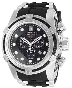 Invicta 12954 Bolt Resv Jt Black Dial Quartz Crono Black Pu Watch