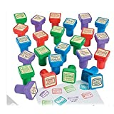 Set of 24 - Passport Stampers (Color: Red, Purple, Blue, Green)