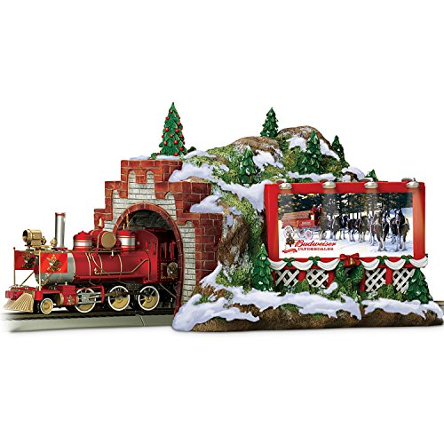 Budweiser-Christmas-Train-Accessory-Mountain-Tunnel-by-Hawthorne-Village