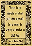 Parchment Style Card Greetings Card 14cm x 10cm Martin Luther King Peace