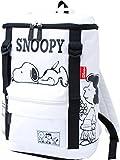 スヌーピー SNOOPY ナイロン ダブルベルト スクエア リュックサック (spb-641) (ホワイト)