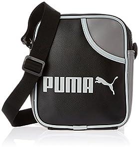 PUMA Umhängetasche Campus Portable, black-steel gray-limestone, 18 x 21 x 6 cm, 2 liters, 071375 01,