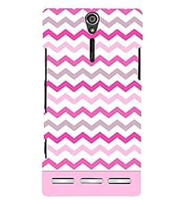 Chevron Girl Cross Design Cute Fashion 3D Hard Polycarbonate Designer Back Case Cover for Sony Xperia SL :: Sony Xperia S :: Sony Xperia SL LT26I LT26ii