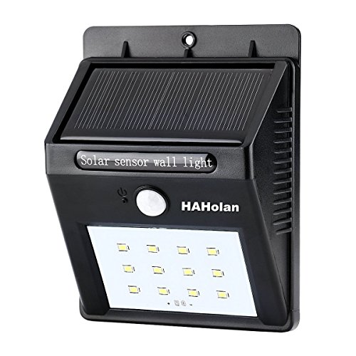 Holan 12-LED Solar Motion Sensor Security Light with Two Intelligent Modes, Pack of 1 (Solar Motion Led Light compare prices)