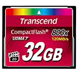 Transcend 32 GB 800X Compact Flash Card (TS32GCF800)